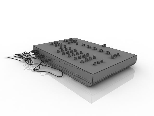 Musical equipment 3D model