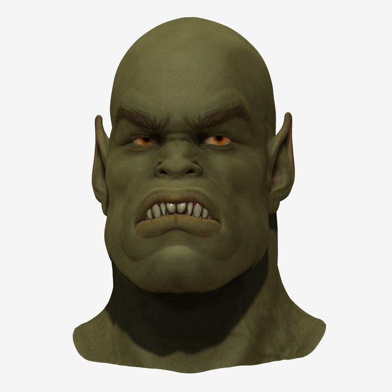 Orc head 3D model