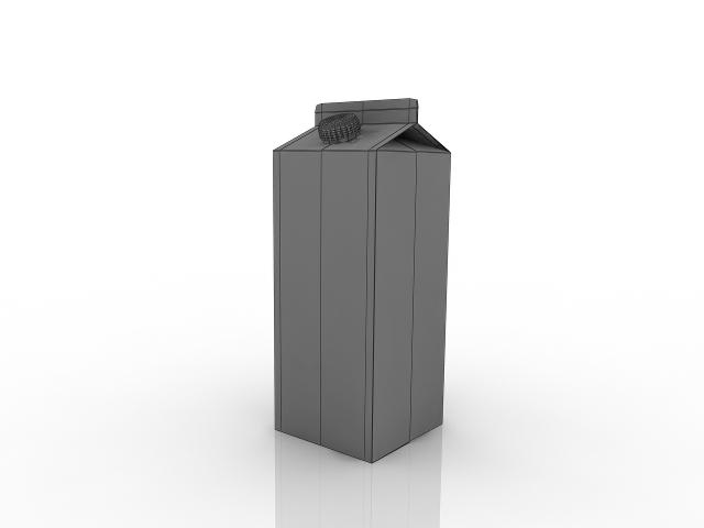Pack of juice 3D model
