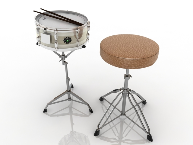Percussion instruments 3D model