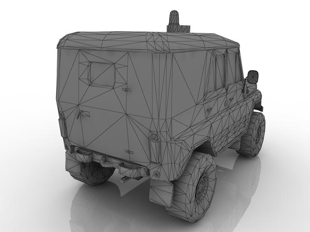 Police UAZ 3D model