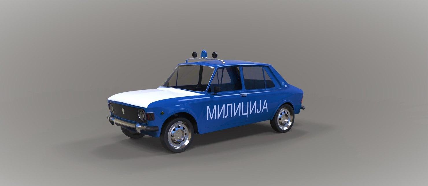 Police car Zastava 3D model
