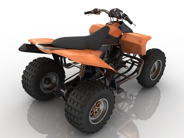Quad bike 3D model