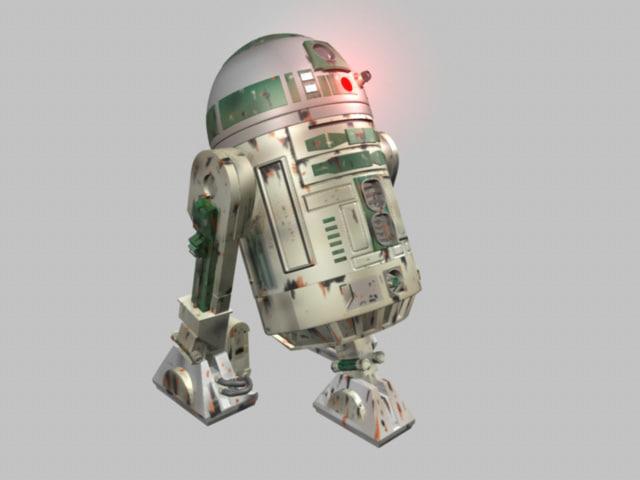 R2 Unit 3D model