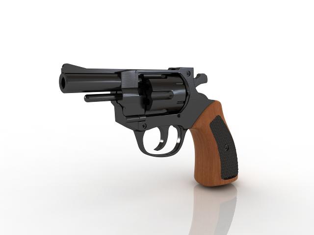 Revolver 3D model