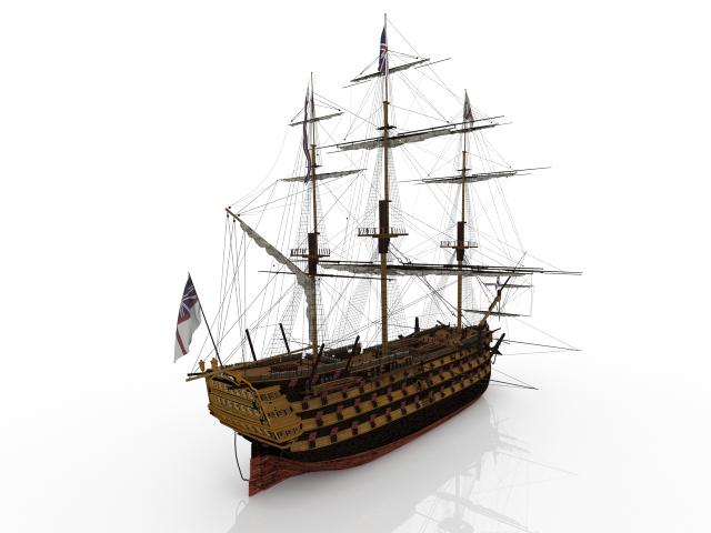 Sailboat Battleship 3D model