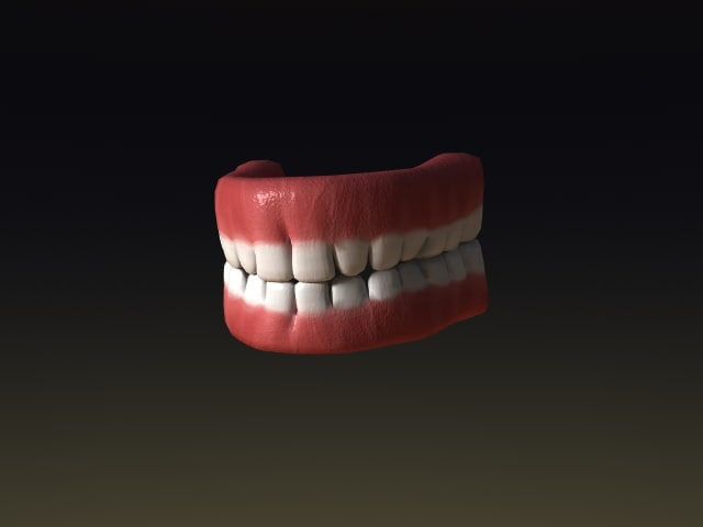 Simple teeth 3D model