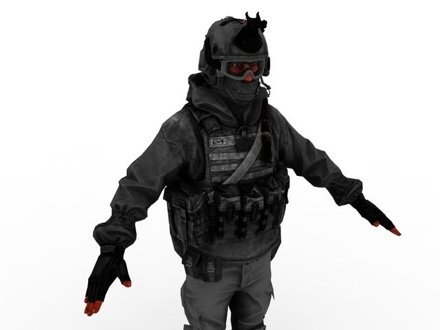 Soldier 3D model