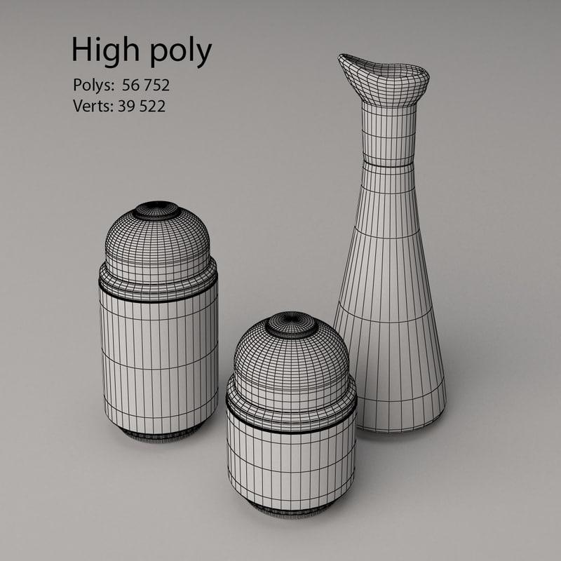 Spice Jars 3D model