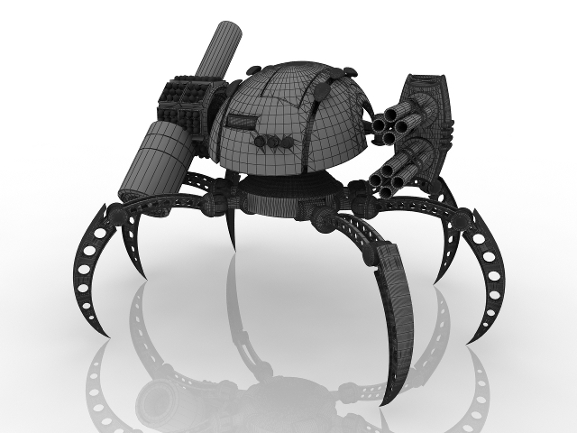 Robot spiderman 3D model