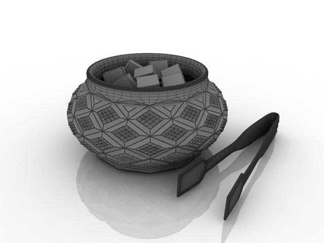 Sugar bowl 3D model
