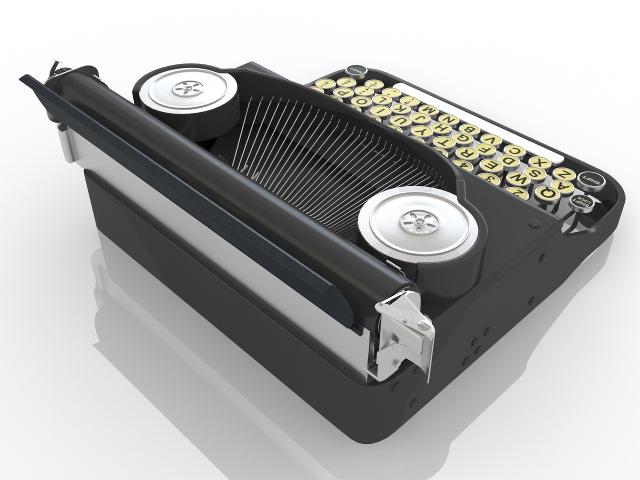 Typewriter 3D model