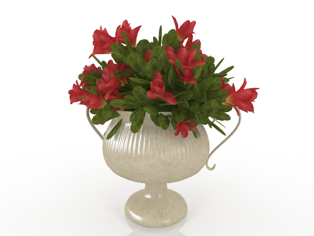 Vase With Flowers 3d Model Download For Free