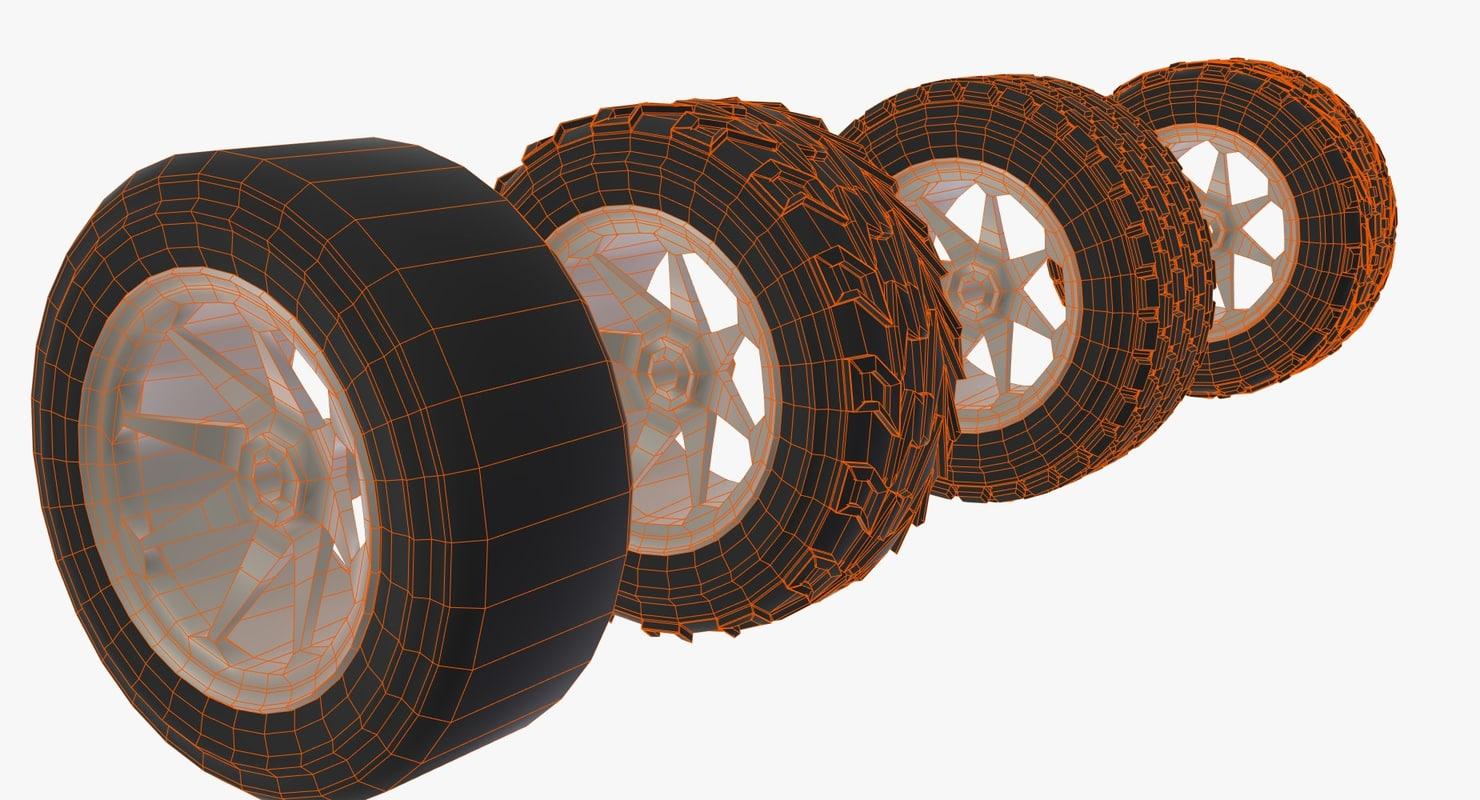 Wheels for RC Car 3D model