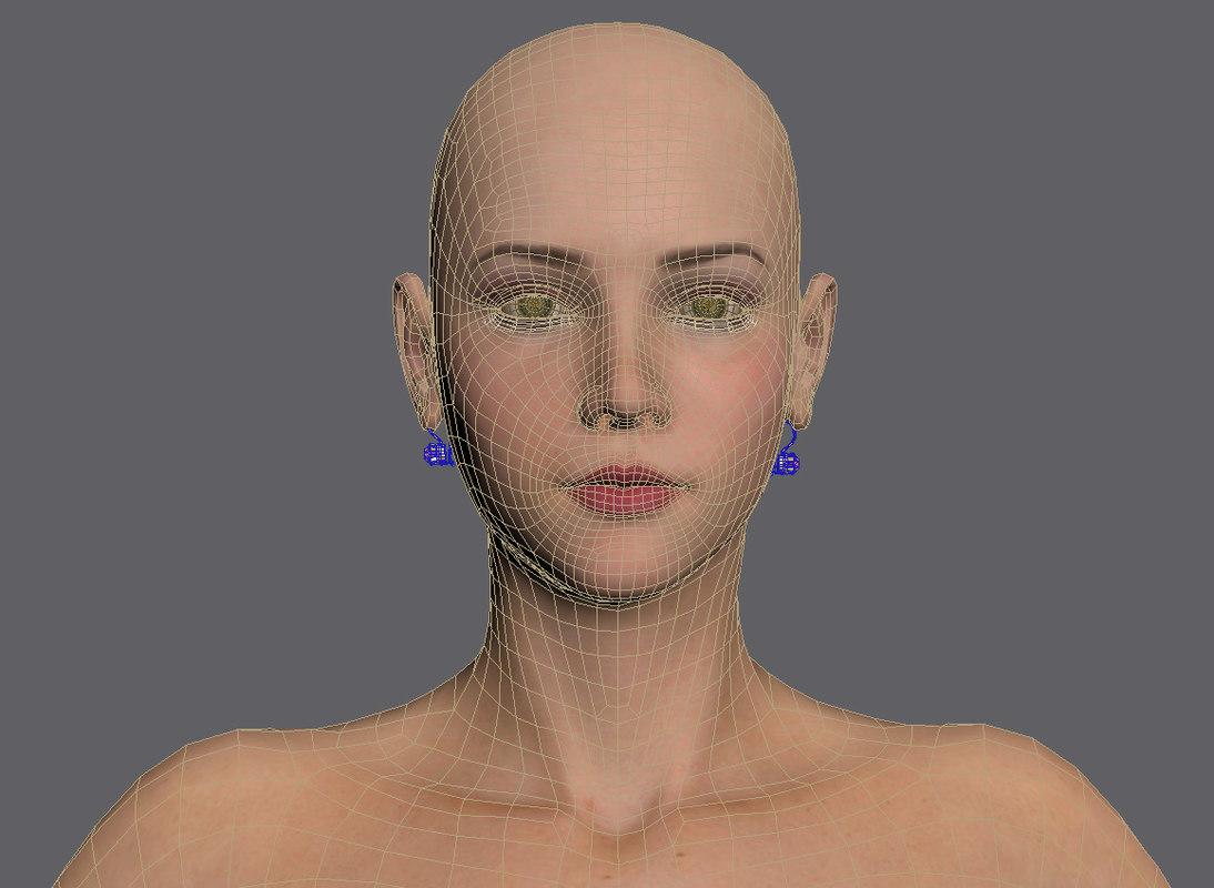 Woman Alesia 3D model