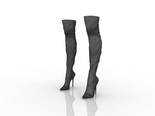 Women's boots 3D model