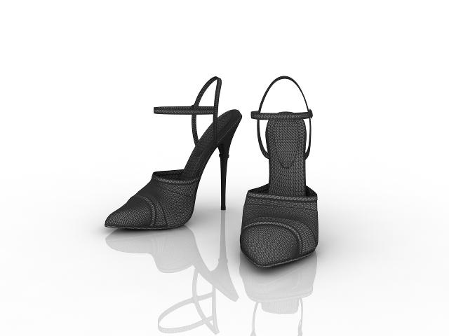 Women's sandals 3D model