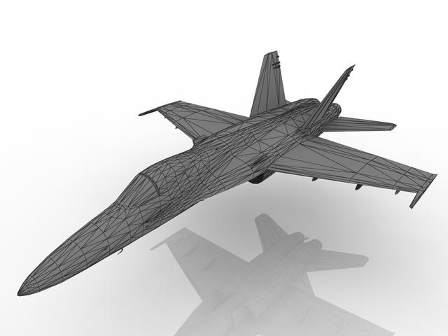 Northrop YF-17 3D model