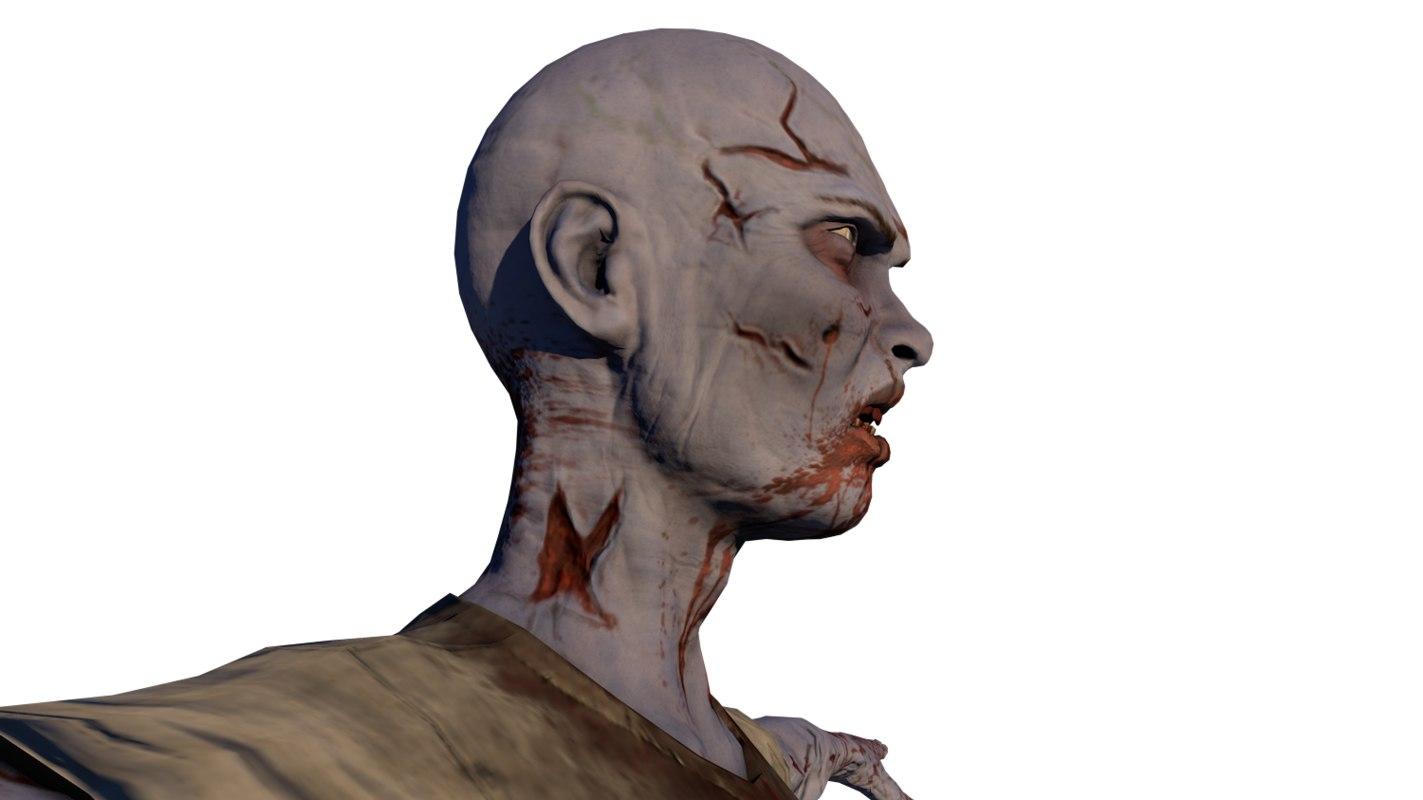 Zombi Male 3D model