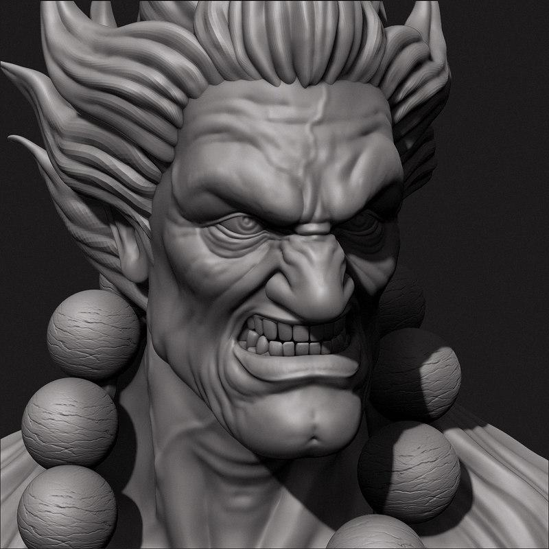 Akuma Bust 3D model
