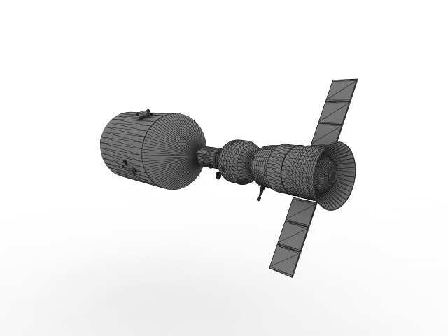 Apollo-Soyuz 3D model