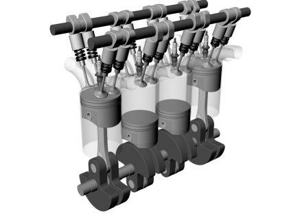 Car V16 engine