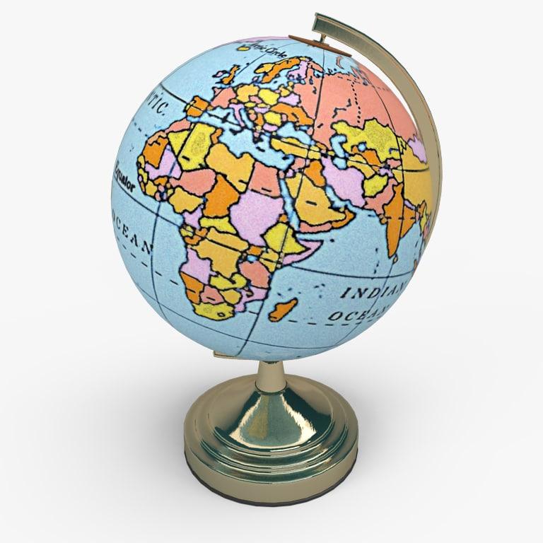Basic Globe 3D model