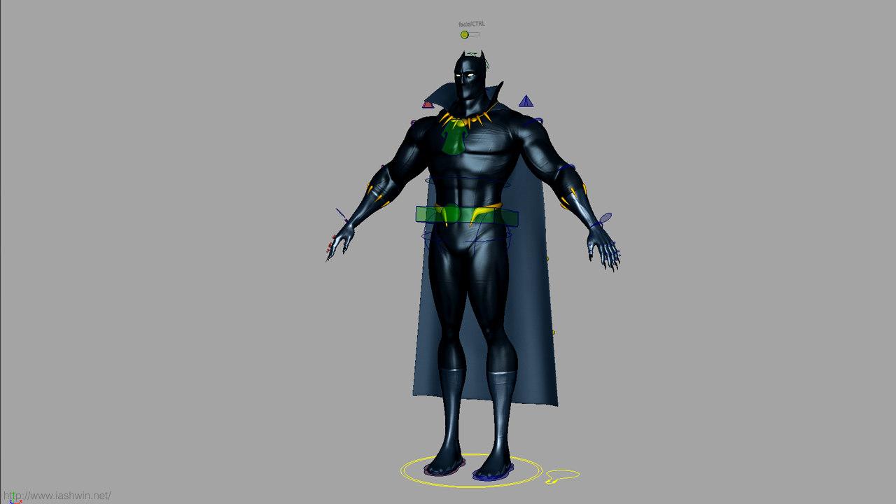 3d model panther black