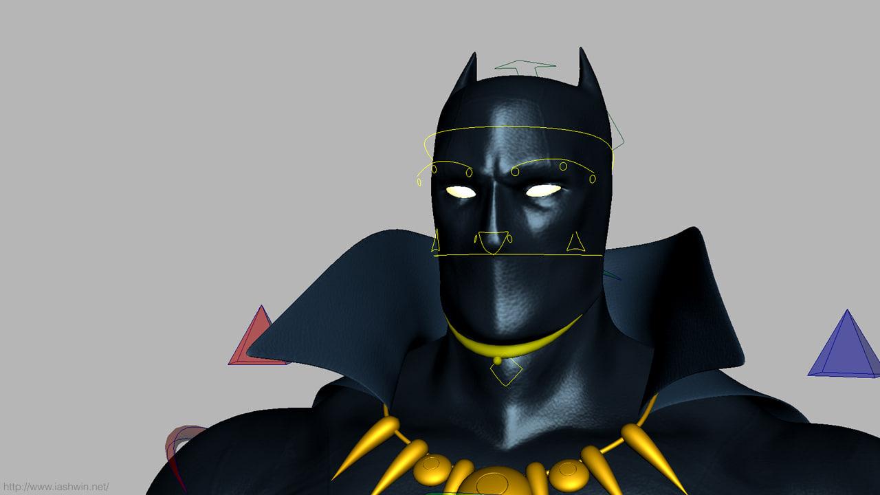 Black panther animal 3d model