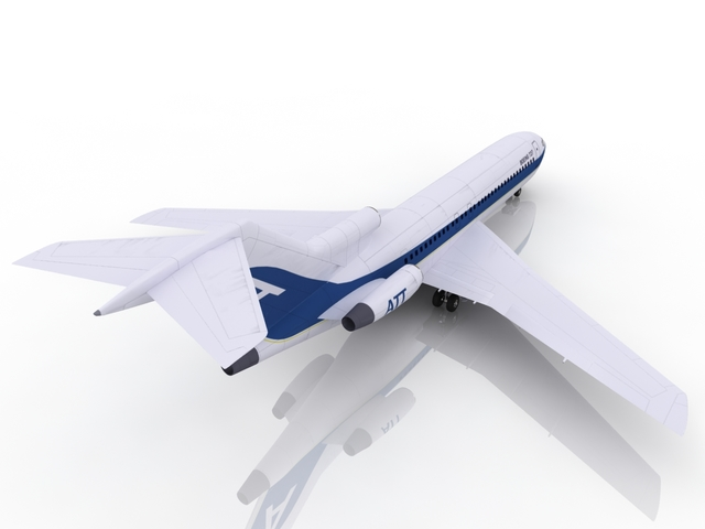 Boeing 727 3D model