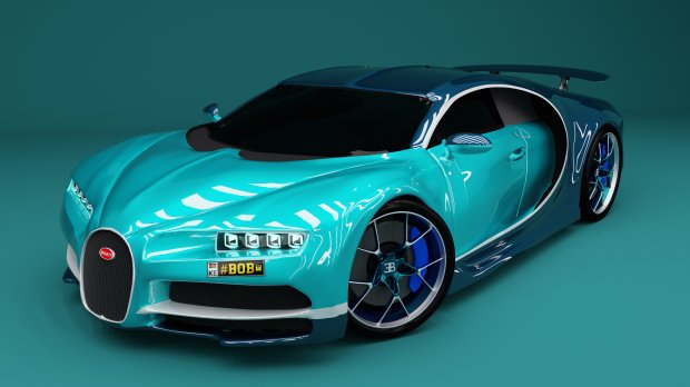 Bugatti Chiron 2017 sports car 3D model