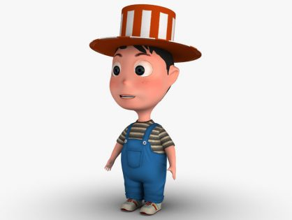 Cartoon Boy with hat