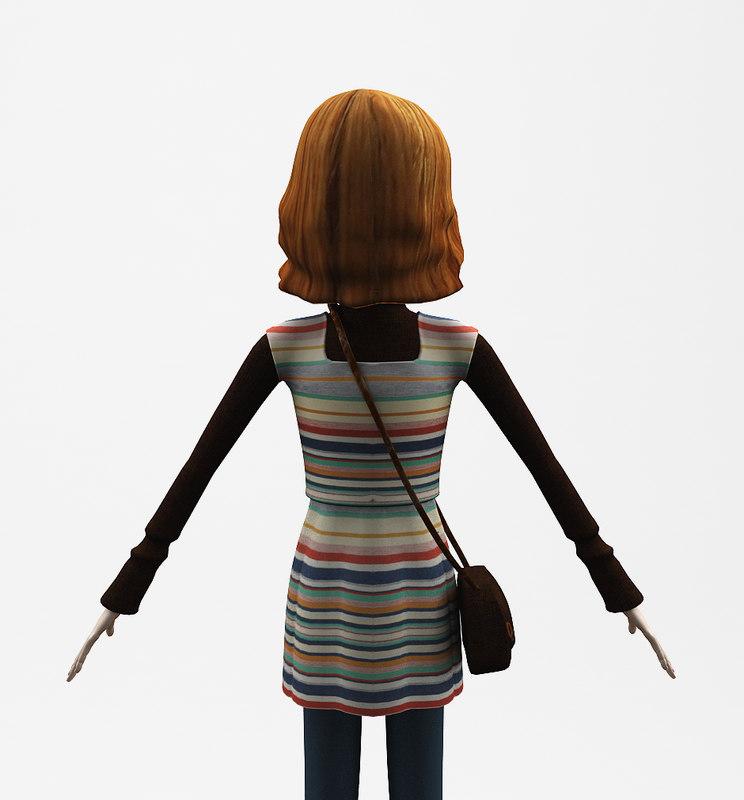 Cartoon Girl 3D model