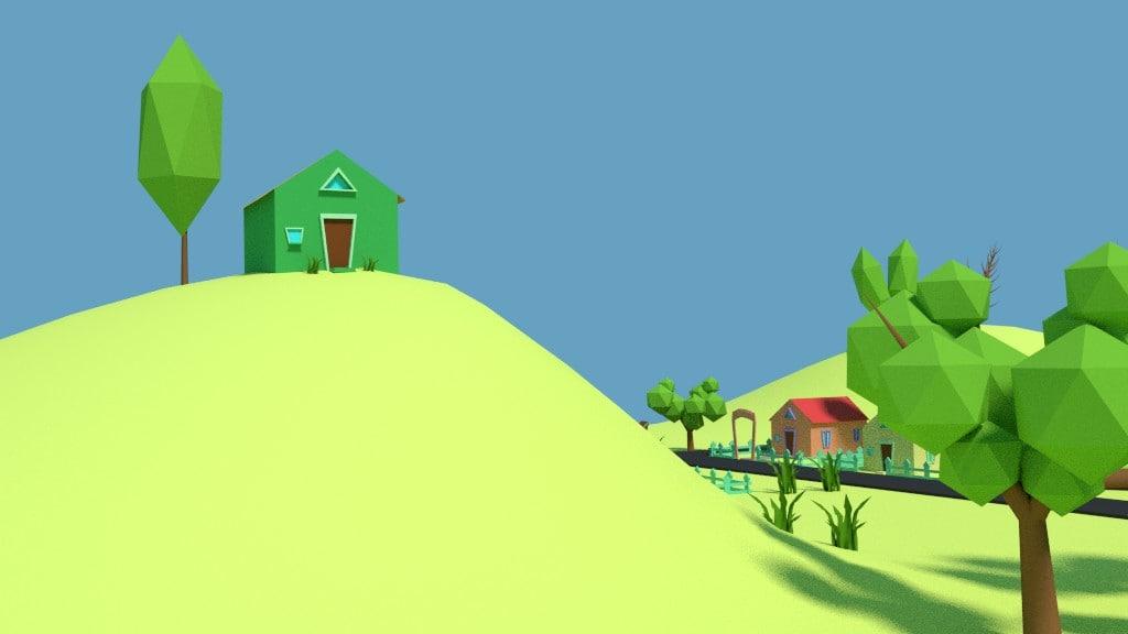 Cartoon Land 3D model