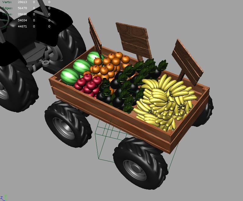 Cartoon Tractor 3D model