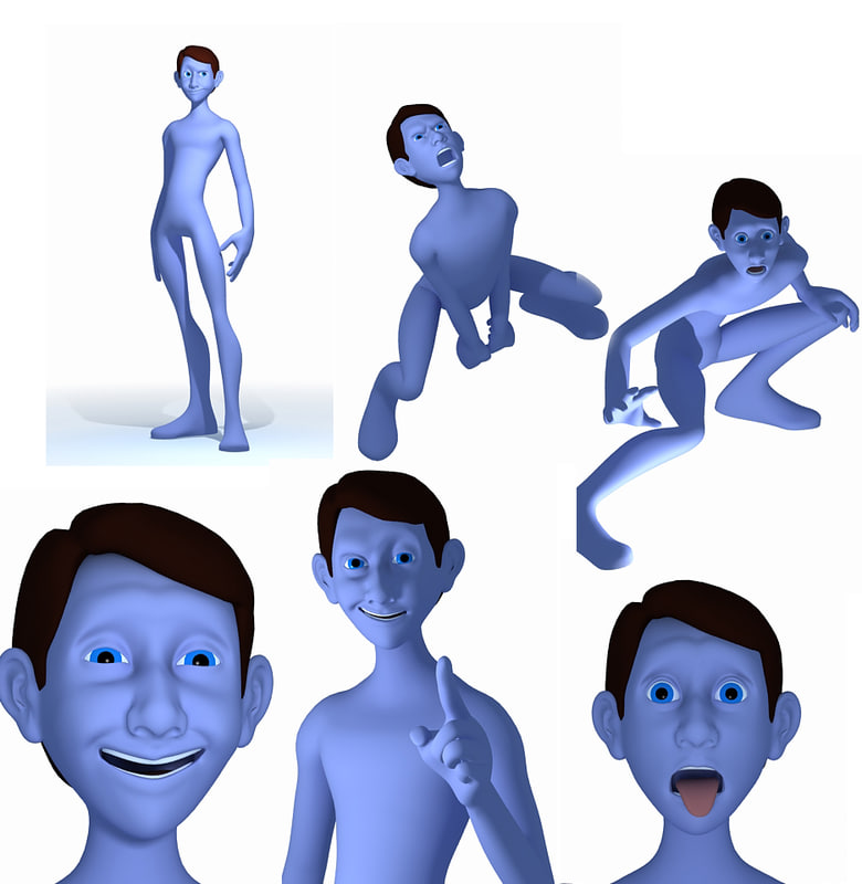 Cartoon young Man 3D model