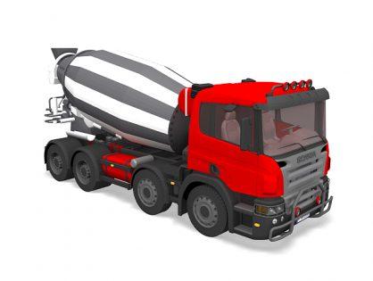 Cement mixer truck Scania
