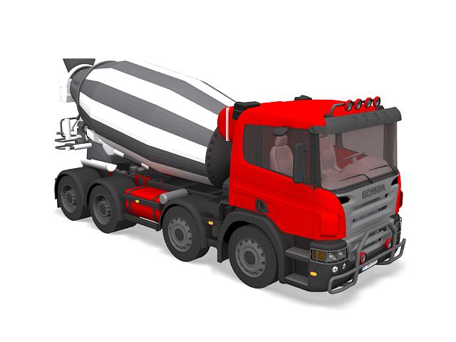 Cement mixer truck Scania 3D model