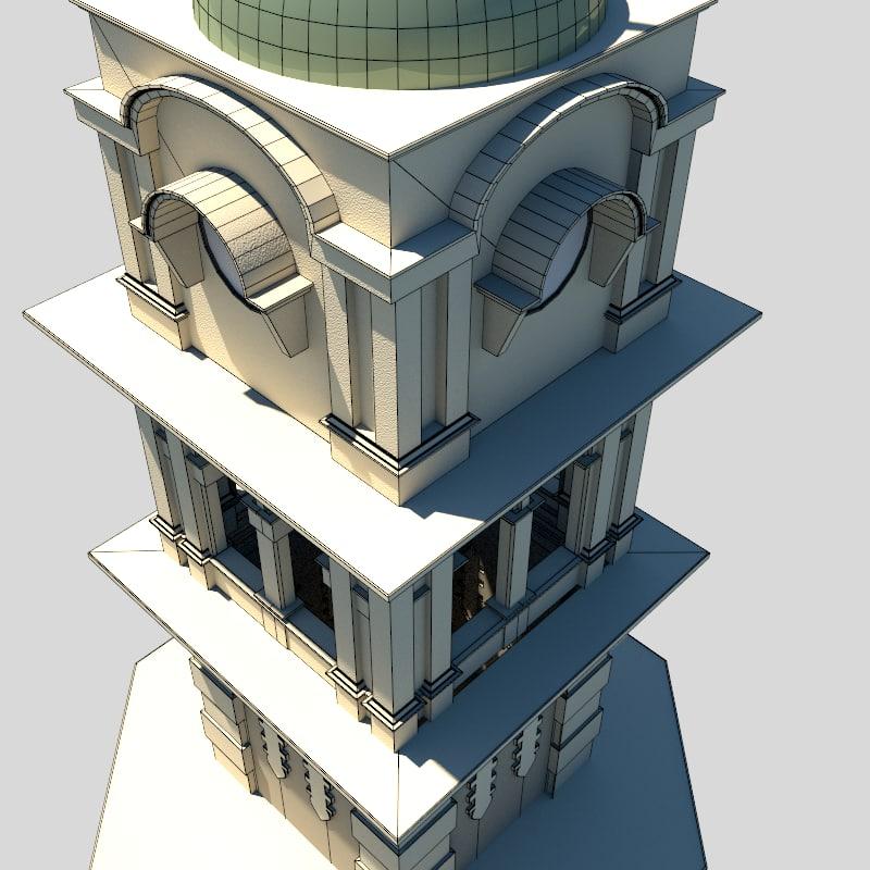 Clock Tower – Colonial 3D model