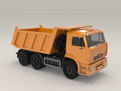 Construction dump truck Kamaz