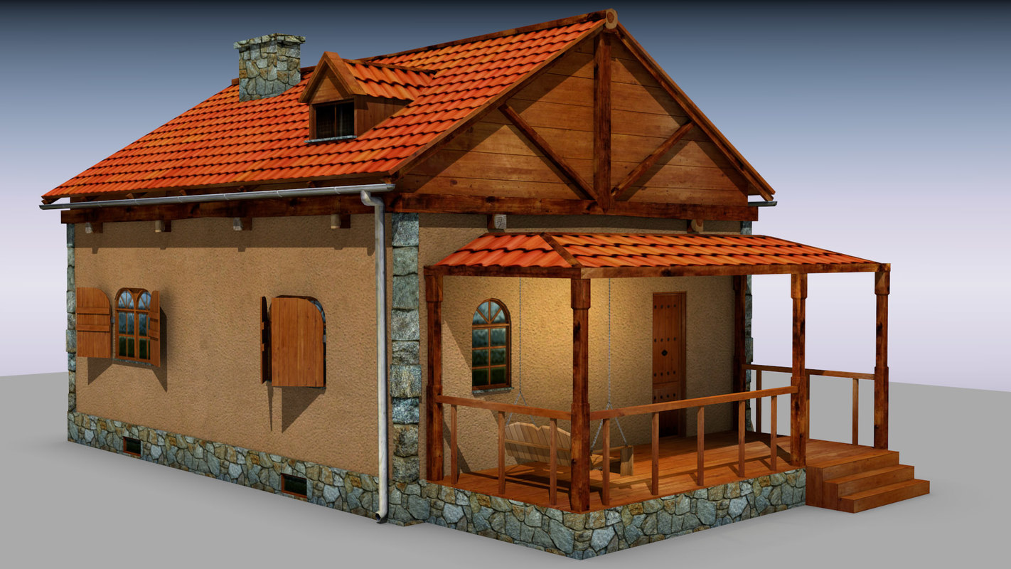 Country Cottage 3D model