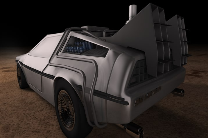 DeLorean time machine 3D model