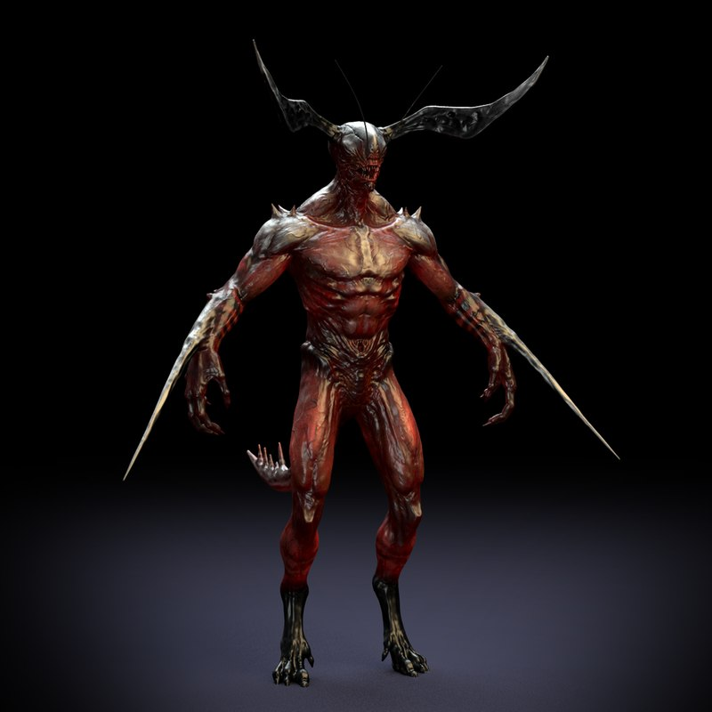 Demon no eyes 3D model