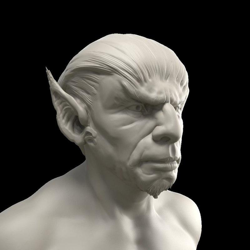Elf Head 3D model