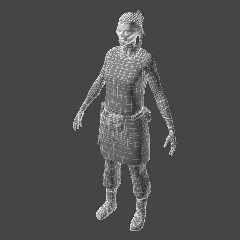 Female orc 3D model