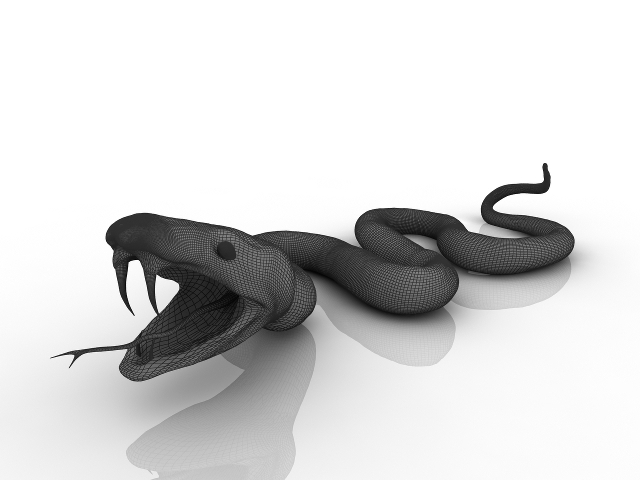 Green Snake 3D model
