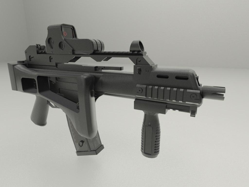 HK G36 3D model