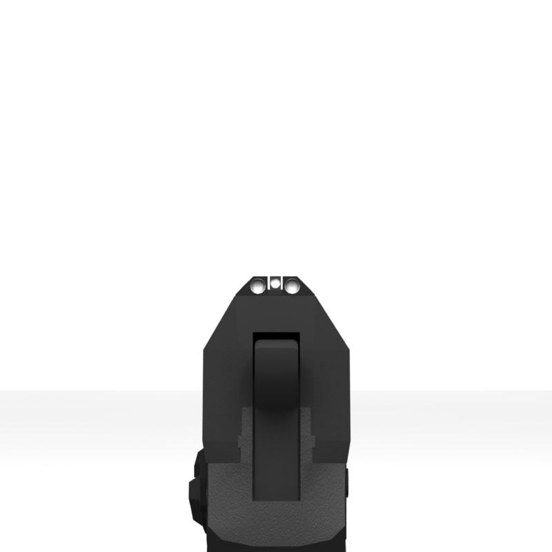 HK USP P8 3D model