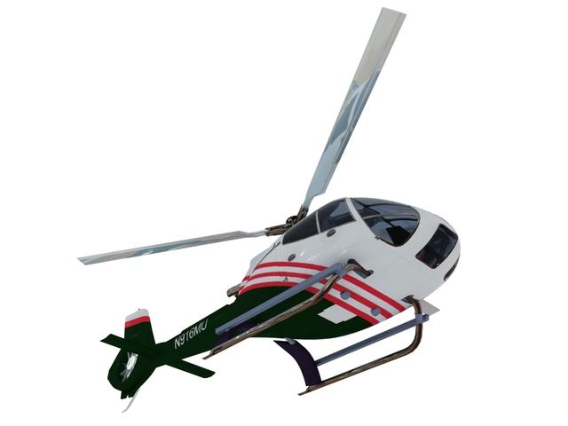 Helicopter N916MU 3D model