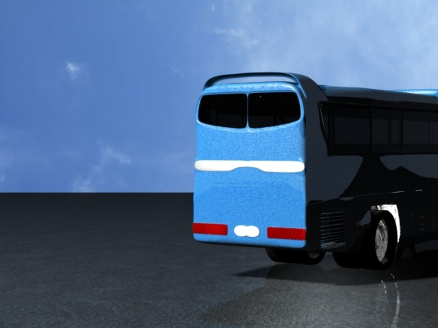 Hino Selega Bus 3D model
